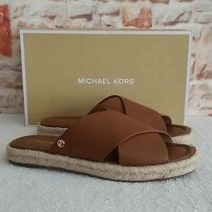 New Michael Kors Linden Slide Sandals